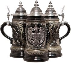 Here is a vintage authentic German beer stein. Description from ebay.com. I searched for this on bing.com/images