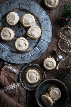 Brown Butter Maple Nutmeg Cookies. Cookies like this wouldn't be complete without some crunchy nuts and sweet frosting. For heaven's sake, do not skip the frosting.