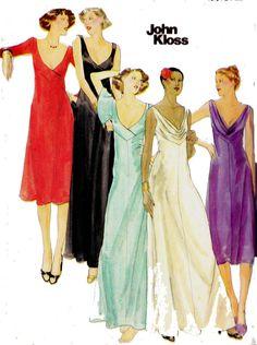Sew on pinterest dress patterns cowl neck dress and for Cowl neck wedding dress pattern