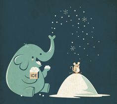 Illustration Elefant mit Maus