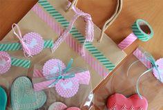 Galletas de corazón y una nueva idea para usar el washi tape