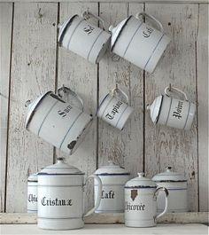 old white mugs
