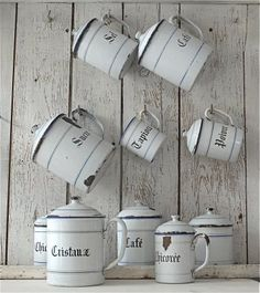 old white mugs