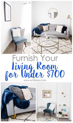 The best tips on how to save money and furnish your living room for under $700!   www.whitjxoxo.com