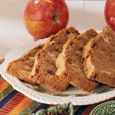 Apple Raisin Quick Bread Time to take a trip out to the orchard. For baking choose apples that are somewhat soft and tart. Keep the honey crisp for snacks. Be sure a toothpick or other tester comes out clean because this is a very moist bread and you will want it completely done in the center.