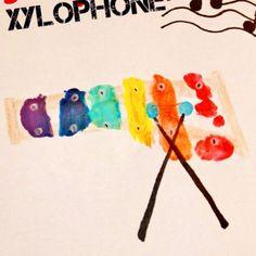 Footprint Xylophone Craft