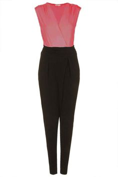 Topshop: **V Neck Crepe Jumpsuit by Wal G Wal G, Playsuits, Jumpsuits, Coral Top, Fasion, What To Wear, Topshop, Dress Up, Pajama Pants