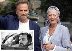 Many years ago and today.  Franco Franco Nero & wife Vanessa Redgrave. The picture is of them as Lancelot and Guinevere in Camelot.