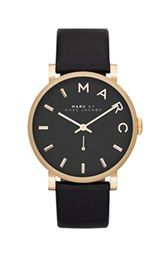 MARC BY MARC JACOBS 'Baker' Leather Strap Watch, 37mm I WANT THIS!!