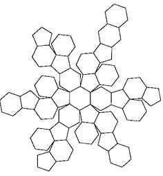 A buckyball has 32 faces, that is, 20 hexagons and 12