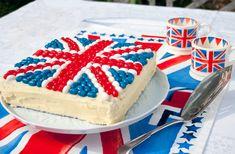 Jelly Bean Jubilee Union Jack Cake