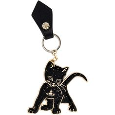 Pre-owned Vivienne Westwood Black Cat Keychain (€40) ❤ liked on Polyvore featuring accessories, black, vivienne westwood and key fob chain