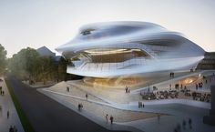 zaha hadid's proposed design for the beethoven festspielhaus in bonn