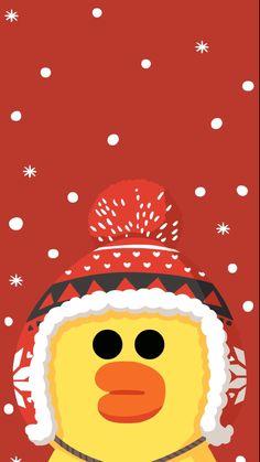 line friends sally christmas Duck Wallpaper, Lines Wallpaper, Iphone Background Wallpaper, Kawaii Wallpaper, Purple Butterfly Wallpaper, Hello Kitty Iphone Wallpaper, Dream Illustration, Best Friend Wallpaper, Holiday Wallpaper