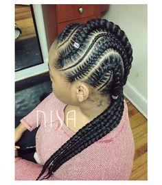 Nice detailing via @nisaraye - http://community.blackhairinformation.com/hairstyle-gallery/braids-twists/nice-detailing-via-nisaraye/