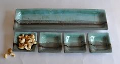 Pottery Serving Tray Platter and Dishes by ClayismyArt on Etsy, ₪250.00