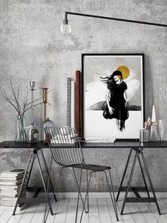 Siv Storøy │ Limited edition Art Prints by Norwegian artist Siv Storøy Mermaid, Illustrations, Art Prints, Artist, Painting, Art Impressions, Illustration, Artists, Painting Art