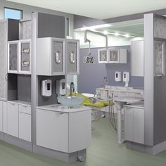 Dental cabinets that inspire peak performance. A-dec Inspire dental furniture combines beauty and efficiency. Dental Office Design, Office Interior Design, Office Interiors, Design Offices, Modern Offices, Modern Interior, Home Renovation, Küchen Design, Modern Design