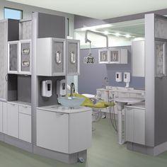 A-dec Inspire dental furniture. Featured dental office decor: Vapor Strandz and Cosmic Strandz laminates, Torquay quartz countertop and Fossil Leaf infill. http://a-dec-inspire.com/