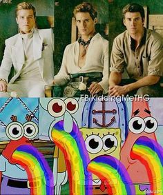 Mm-mmm, good Lord! Peeta Mellark, Finnick Odair, and Gale Hawthorne... amazingly delicious men! (;