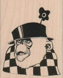 New to pinkflamingo61 on Etsy: Unmounted rubber  stamp Monkey in Hat steampunk zentangle  art stamps original design by Mary Vogel Lozinak no 19066 (5.70 USD)