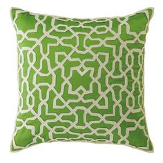 Garden Gate Pillow in Grass (Solid Pattern, decorative pillows) | Room Furnishing Accessories, Accent Pillows from Company C
