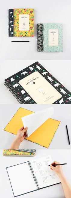 Here's a gorgeous hardcover notebook to inspire us to do our very best work! ^.^ The pages have a blank space on top to write our name or title and there's a dotted line on the lefthand side to optimize & organize our notes~ With this lovely notebook, we're sure to ace school!