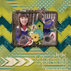 Softly Come Spring by True North Scraps     Template is from True North Scraps by North Star Debbie