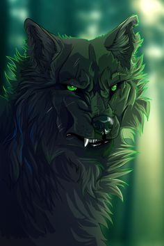 This would be Hollyleaf as a wolf Anime Wolf Drawing, Demon Wolf, Wolf Artwork, Werewolf Art, Fantasy Wolf, Wolf Wallpaper, Wolf Love, Wolf Pictures, Anime Animals