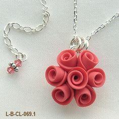 Petal Pouf Rose Necklace