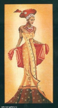 #1 Gold & Red African lady Fashion ( 2/2 ) Pinned from
