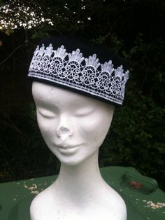 Handmade Hand Sewn Felt Pill Box Hat. Black Felt by ArniesArtwork, £45.00