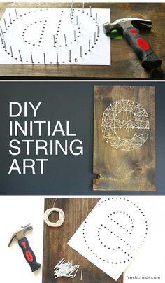 Machen Sie Ihre Eigene DIY Initial String Wall Art, In Ein