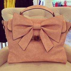 Blush Bow Handbag