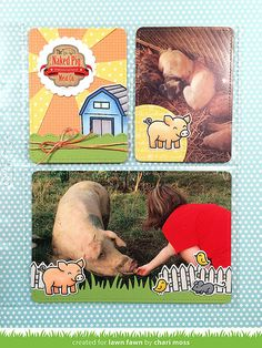 Lawn Fawn June Inspiration Week: Critters On The Farm Lawn Cuts
