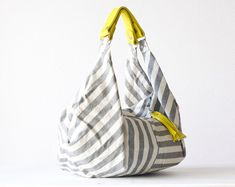 Miloo - Striped Canvas Hobo Bag