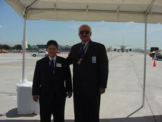 San Jose International Airport, Runway 30R Opening 2001:  Ralph Tonseth, Director of Airport with Mark West (Mother: Tina West, City/Airport employee 30.5 yrs)