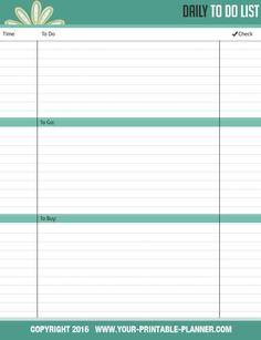 Free Printable Blank Daily Calendar  HourDayPlannerJpg