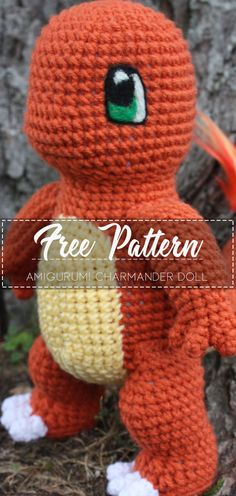 Amigurumi Charmander Doll – Free Pattern – Free Crochet The Effective Pictures We Offer You About Am Crotchet Patterns Free, Crochet Dinosaur Patterns, Pokemon Crochet Pattern, Crochet Baby Blanket Free Pattern, Doll Patterns Free, Crochet Patterns Amigurumi, Crochet Dolls, Amigurumi Doll, Crochet Batman