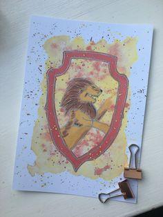 Gryffindor Hogwarts House Crest by SweetAllureShop