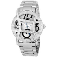 JBW Women's Olympia Stainless Steel Diamond Watch | Overstock.com Shopping - Big Discounts on JBW Women's More Brands Watches