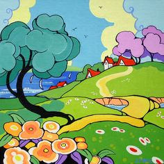 Seaside View Ode to Clarice Cliff Series |