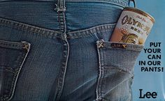 DP Vintage Posters - Lee Jeans Olympia Beer Put Your Can in Our Pants Original American Advertising Poster