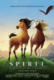 Spirit: Stallion of the Cimarron is an animation from Dreamworks, a story about a horse. This is still my all time favorite Dreamworks animation. I've loved it since I was at least 3 years old. I would beg to watch my 'horsie' movie- Spirit. Childhood Movies, Kid Movies, Cartoon Movies, Great Movies, Disney Movies, Movie Tv, Amazing Movies, Amazing Music, Watch Movies