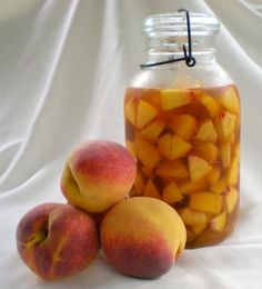 Southern Succor (peach infused Bourbon) requires 8 weeks to make Mixed Drinks, Fun Drinks, Yummy Drinks, Alcoholic Drinks, Beverages, Party Drinks, Bourbon Recipes, Wine Recipes, Peach Whiskey