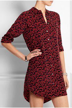 Equipment   Slim Signature printed washed-silk shirt dress   NET-A-PORTER.COM