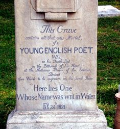 John Keats, an amazing poet and true Romantic.