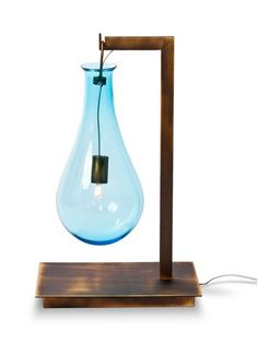 #Murano #glass table #lamp PETITE DROP by Veronese | #design Patrick Naggar