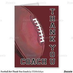 Football Art Thank You Coach Greeting Card by ITD Holidays