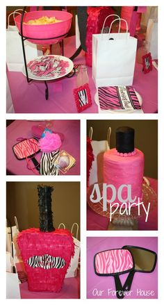 At Home Spa Party Ideas | This was our starting off point. We next started going crazy with the ...